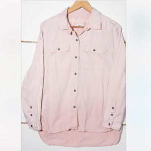 Madewell Faded Pink Button Up Shirt |  Size Medium